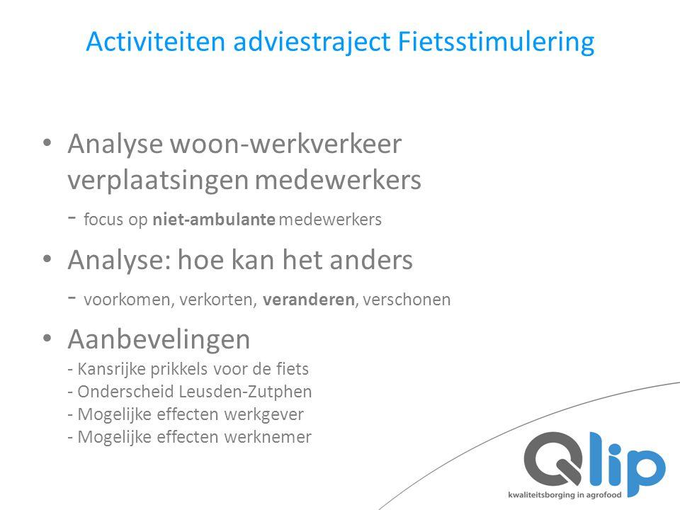 Activiteiten adviestraject Fietsstimulering