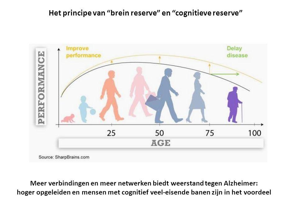 Meer verbindingen en meer netwerken biedt weerstand tegen Alzheimer: