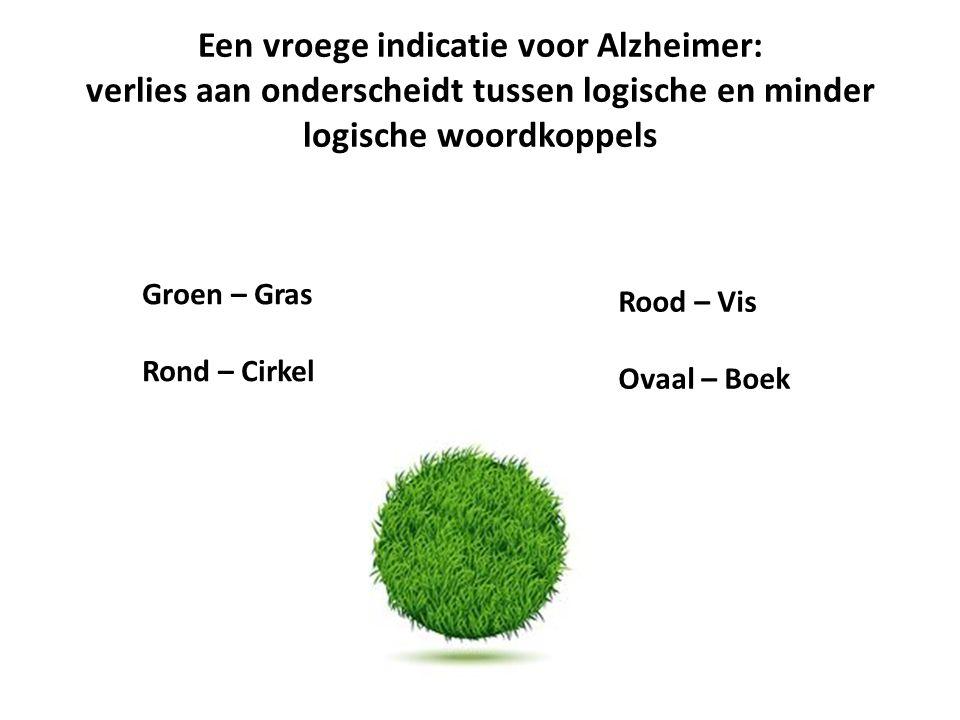 Een vroege indicatie voor Alzheimer: verlies aan onderscheidt tussen logische en minder logische woordkoppels