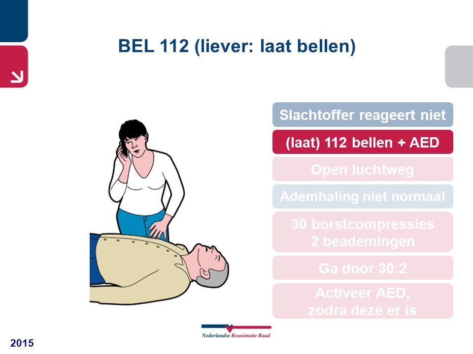BEL 112 (liever: laat bellen)