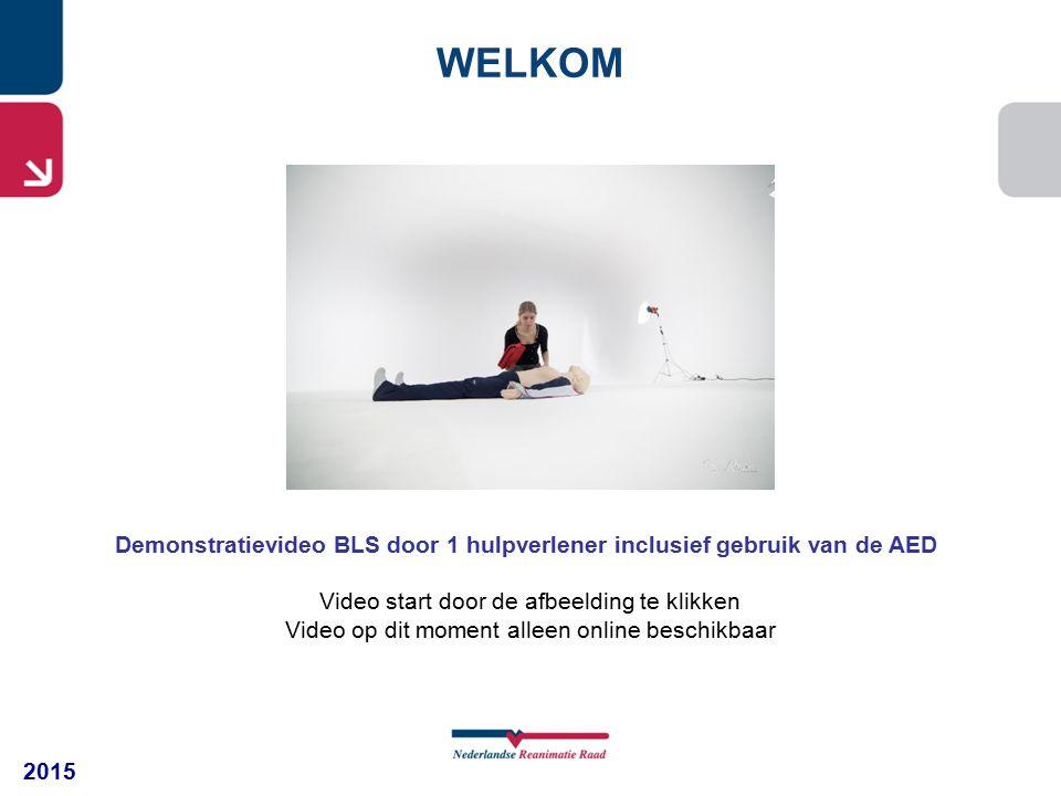 WELKOM Demonstratievideo BLS door 1 hulpverlener inclusief gebruik van de AED. Video start door de afbeelding te klikken.