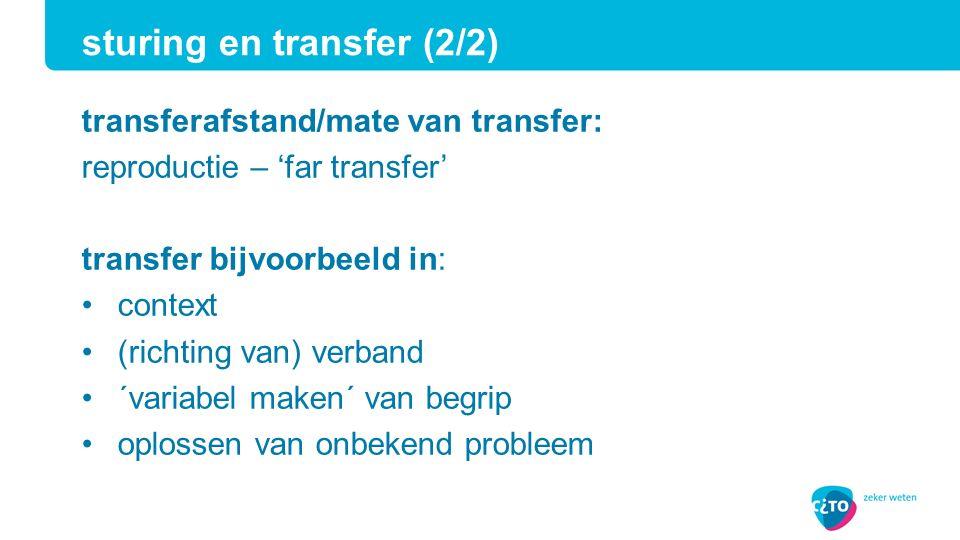 sturing en transfer (2/2)