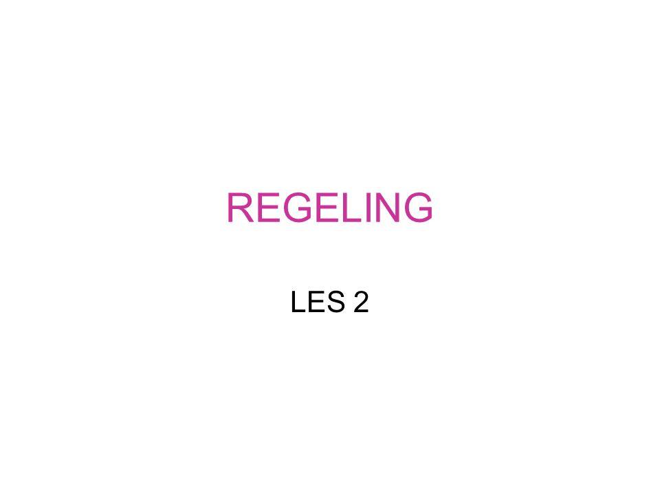REGELING LES 2