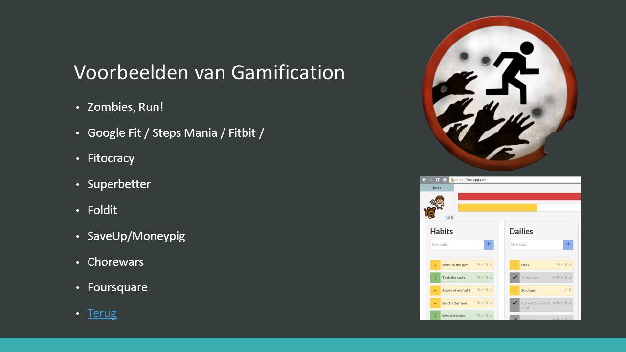 Voorbeelden van Gamification