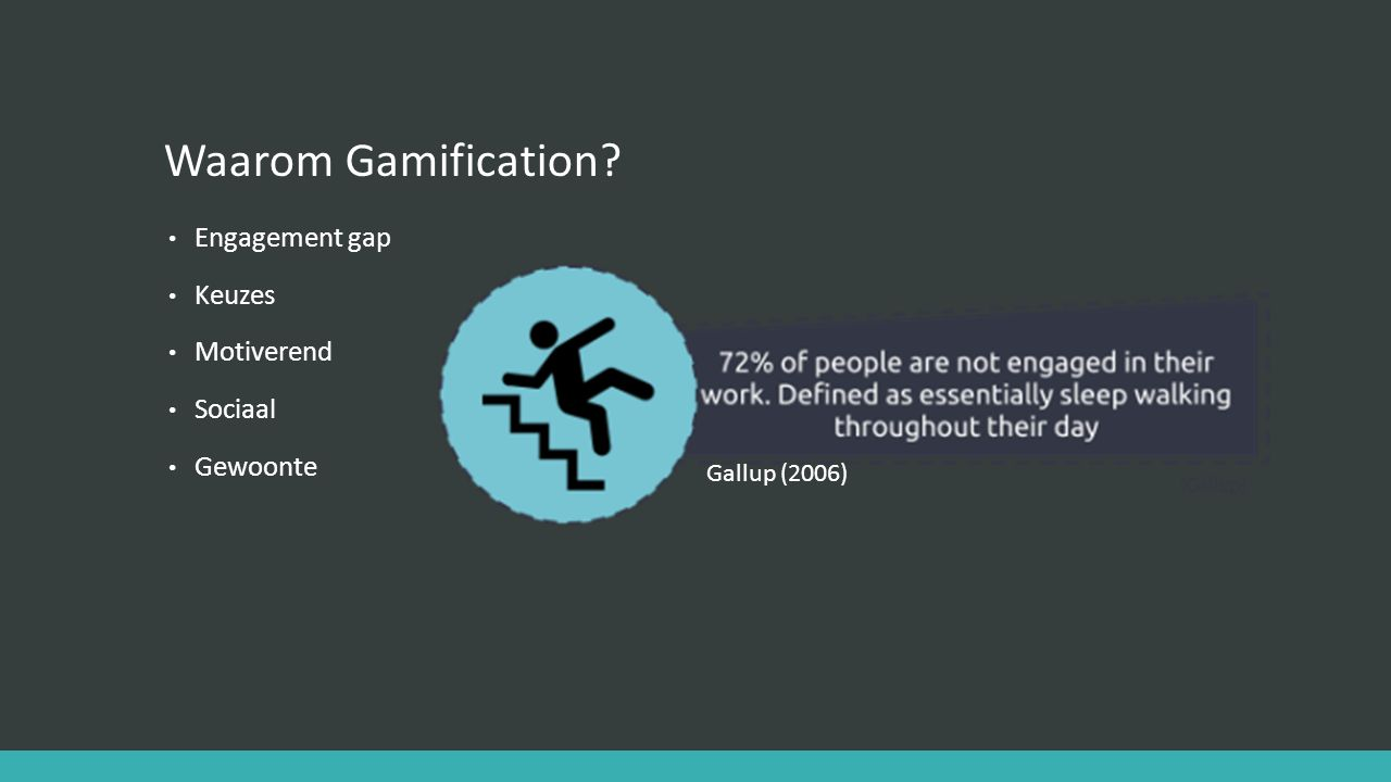 Waarom Gamification Engagement gap Keuzes Motiverend Sociaal Gewoonte