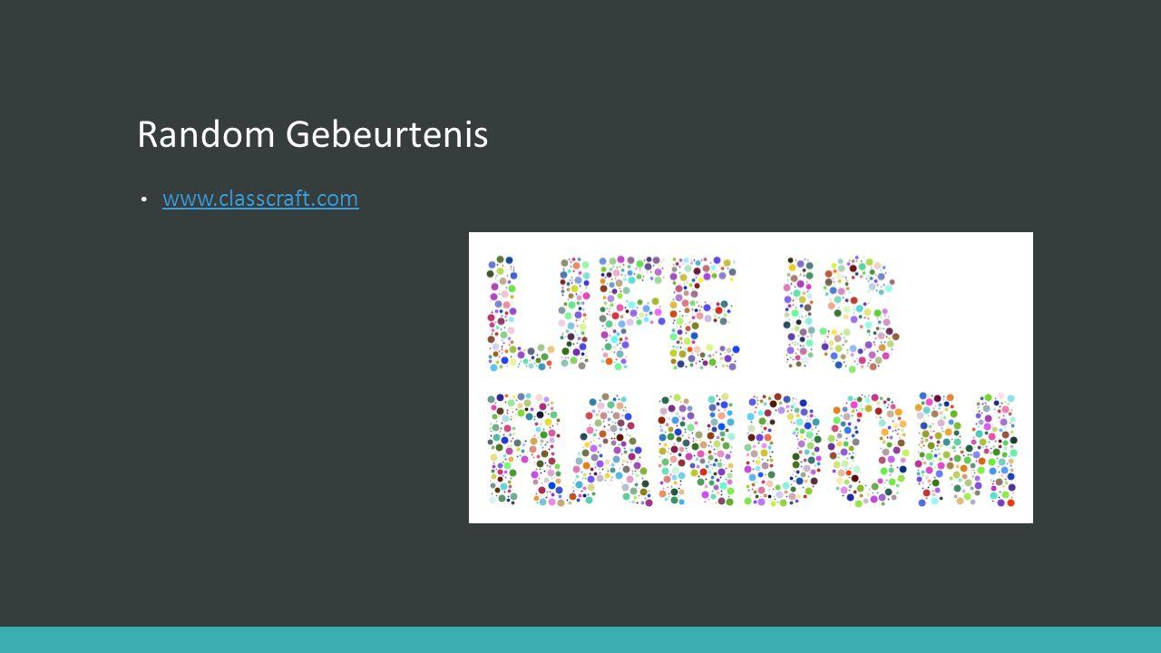 Random Gebeurtenis www.classcraft.com