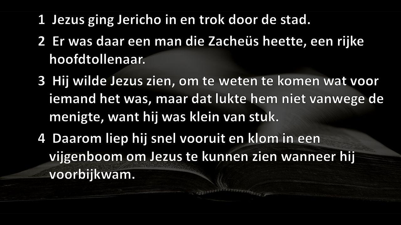 1 Jezus ging Jericho in en trok door de stad