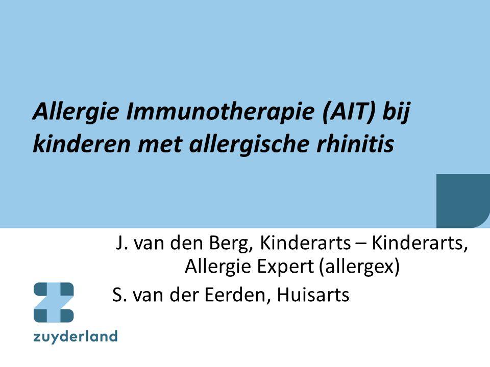 Allergie Immunotherapie (AIT) bij kinderen met allergische rhinitis