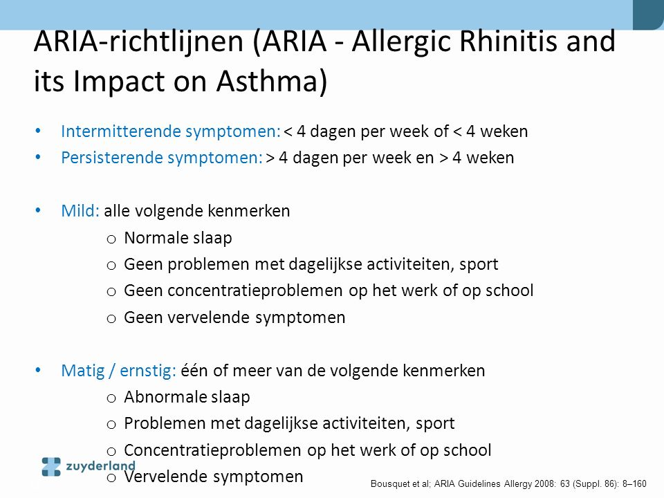 ARIA-richtlijnen (ARIA - Allergic Rhinitis and its Impact on Asthma)
