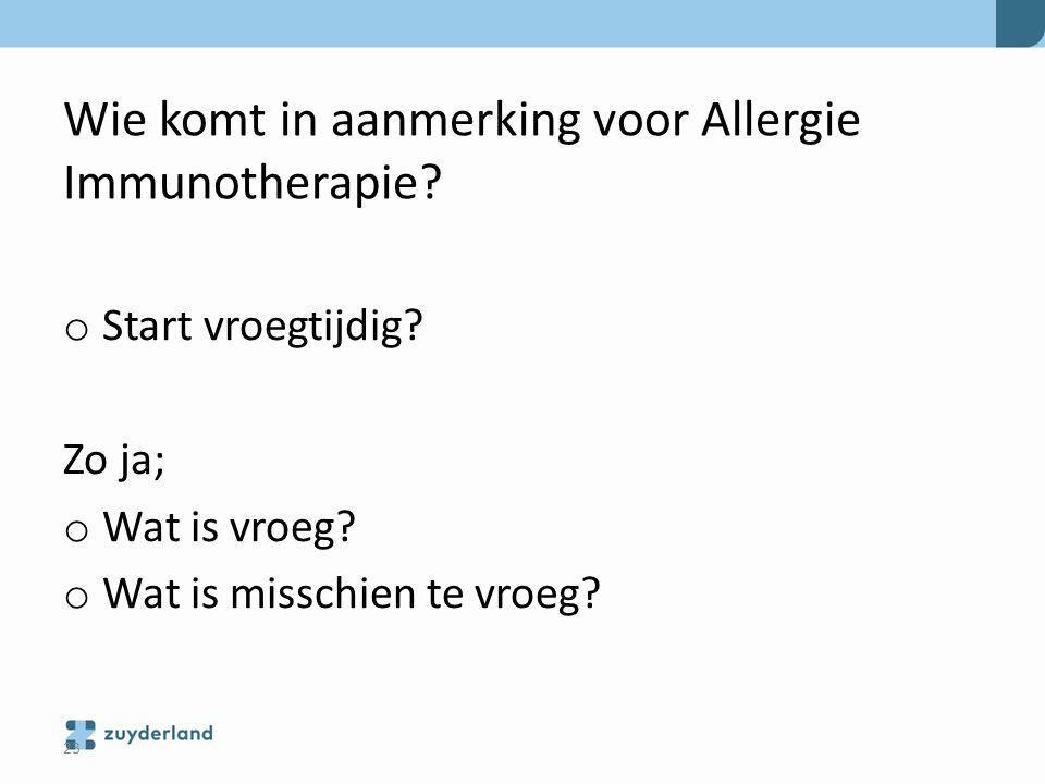 Wie komt in aanmerking voor Allergie Immunotherapie