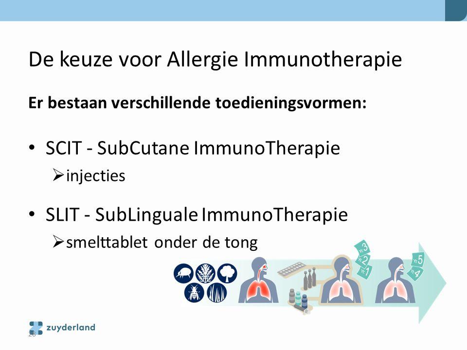 De keuze voor Allergie Immunotherapie