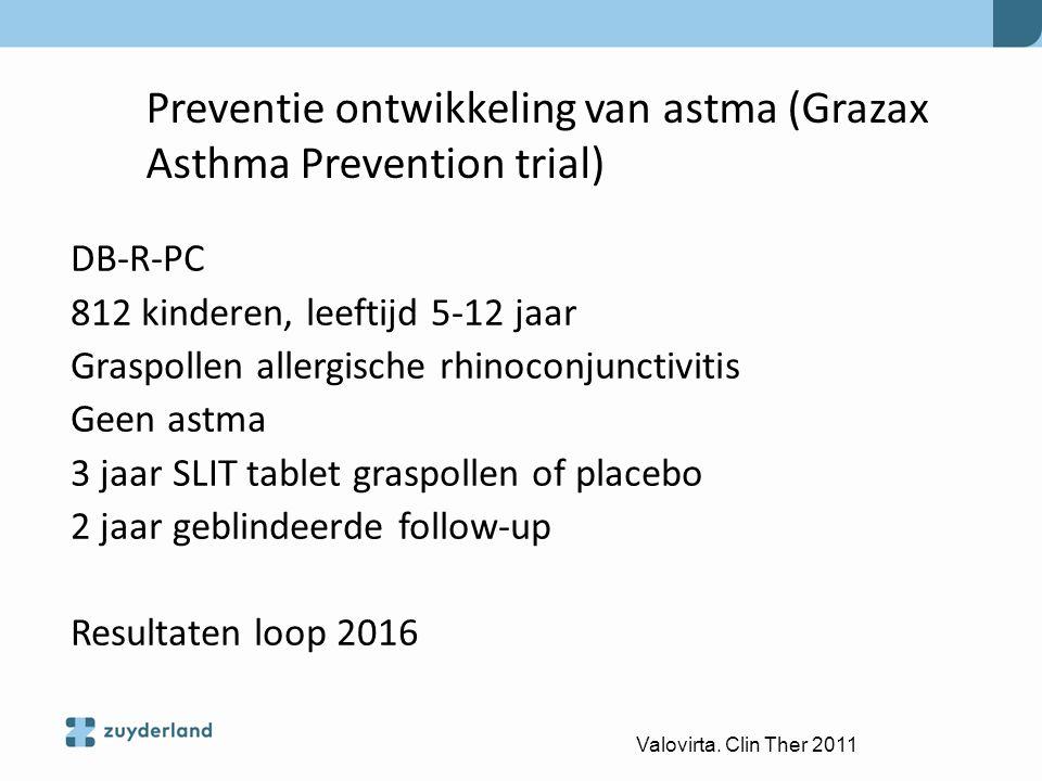 Preventie ontwikkeling van astma (Grazax Asthma Prevention trial)