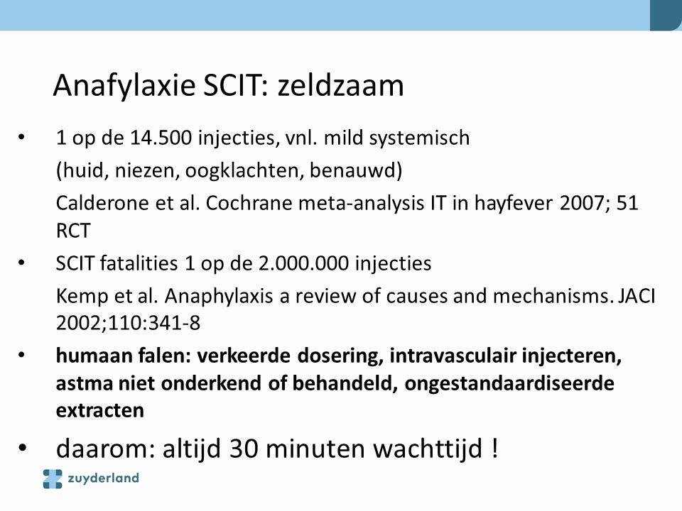 Anafylaxie SCIT: zeldzaam