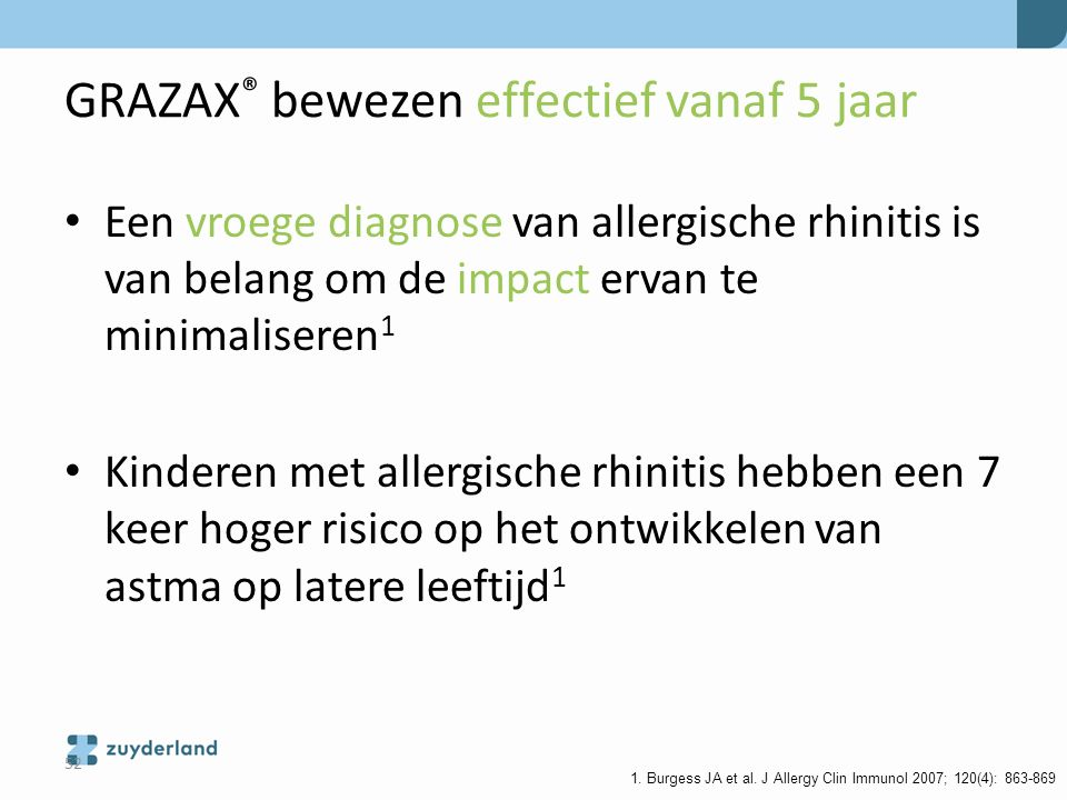 GRAZAX® bewezen effectief vanaf 5 jaar