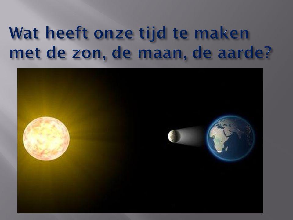 Wat heeft onze tijd te maken met de zon, de maan, de aarde