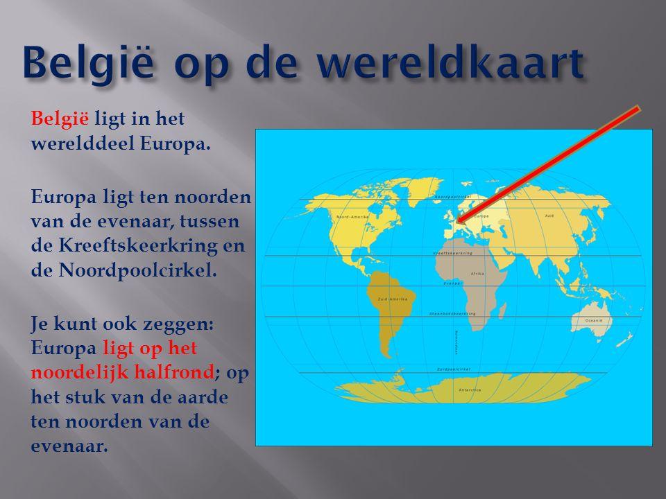 België op de wereldkaart