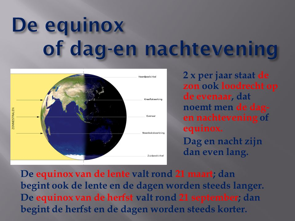 De equinox of dag-en nachtevening