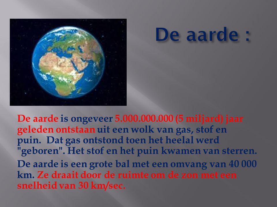 De aarde :
