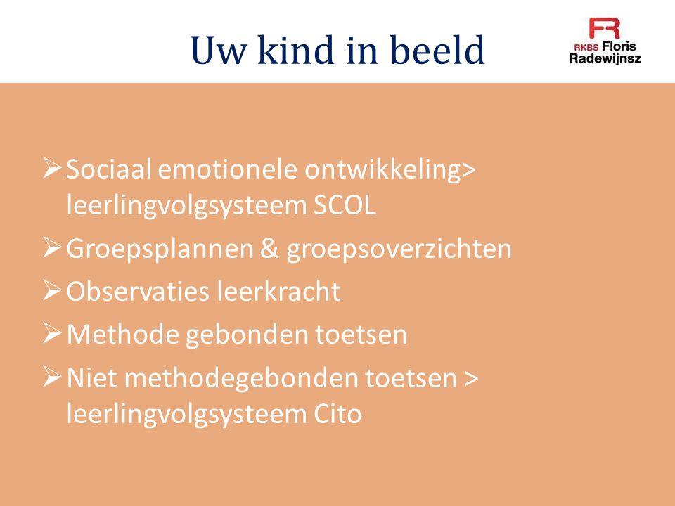 Uw kind in beeld Sociaal emotionele ontwikkeling> leerlingvolgsysteem SCOL. Groepsplannen & groepsoverzichten.