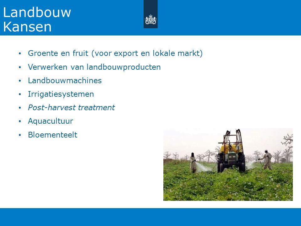 Landbouw Kansen Groente en fruit (voor export en lokale markt)