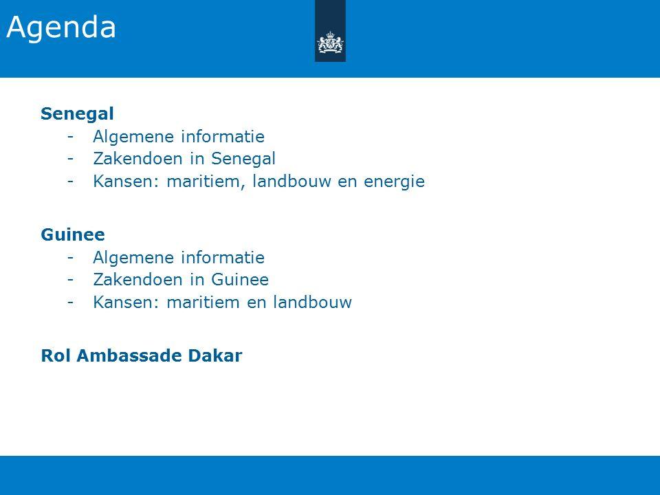 Agenda Senegal Algemene informatie Zakendoen in Senegal