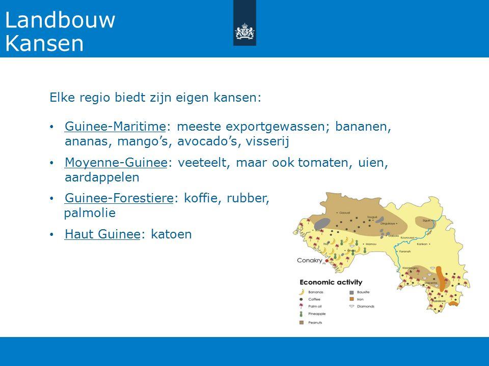 Landbouw Kansen Elke regio biedt zijn eigen kansen: