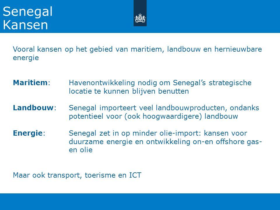 27-10-2015 Senegal. Kansen. Vooral kansen op het gebied van maritiem, landbouw en hernieuwbare energie.