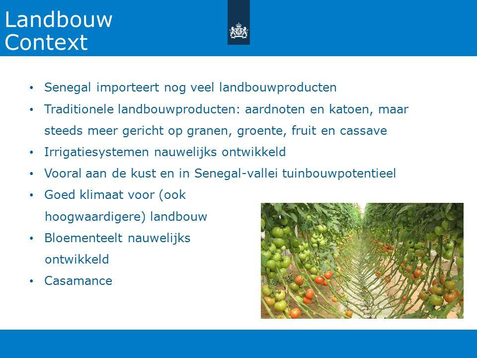 Landbouw Context Senegal importeert nog veel landbouwproducten