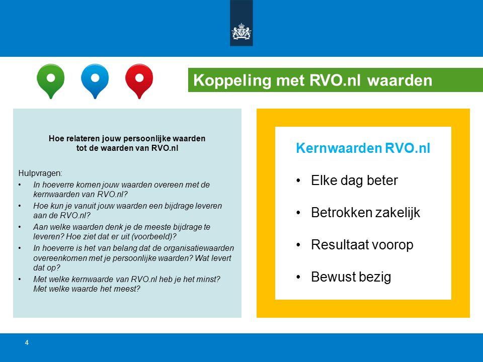 Hoe relateren jouw persoonlijke waarden tot de waarden van RVO.nl