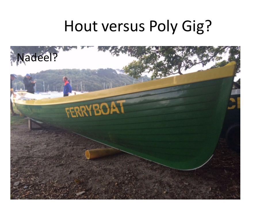 Hout versus Poly Gig Nadeel