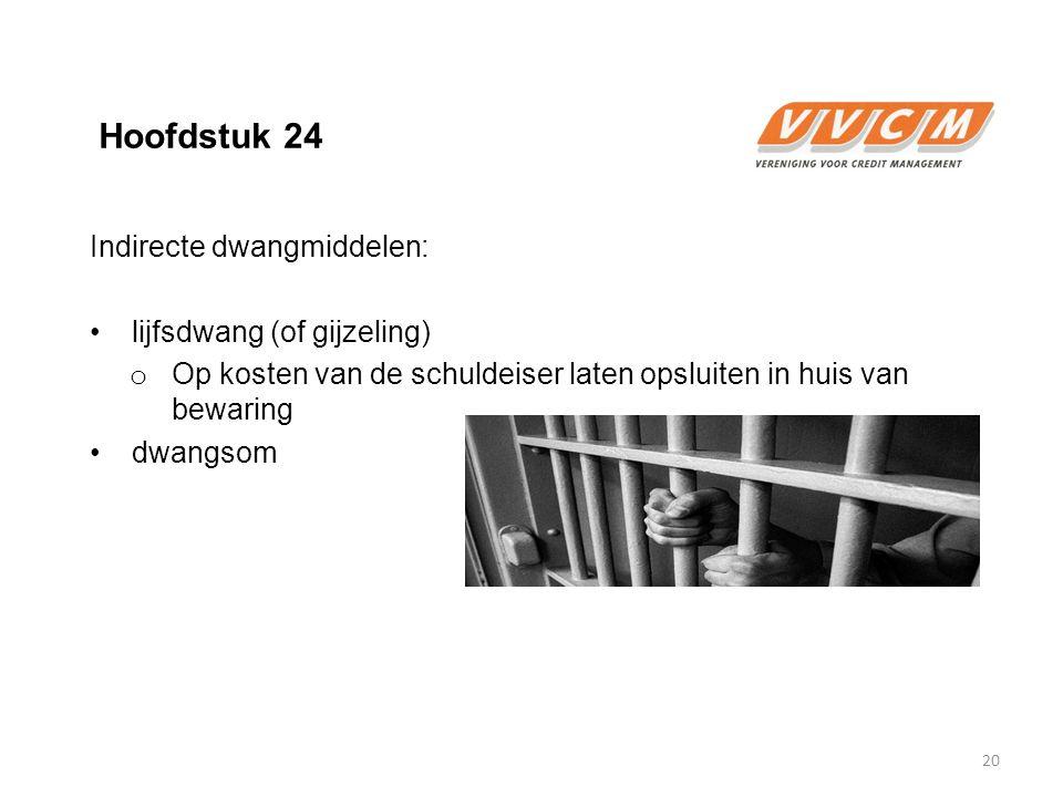 Hoofdstuk 24 Indirecte dwangmiddelen: lijfsdwang (of gijzeling)