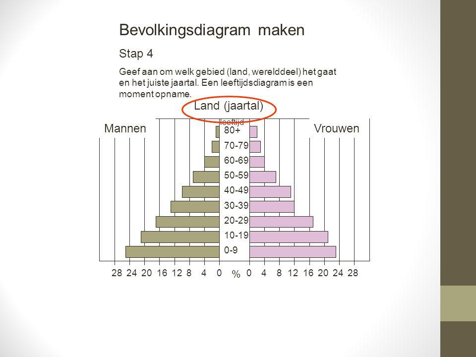 Bevolkingsdiagram maken