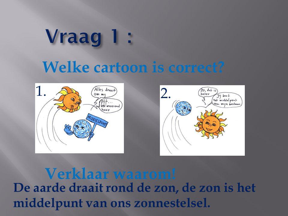 Vraag 1 : Welke cartoon is correct Verklaar waarom! 1. 2.