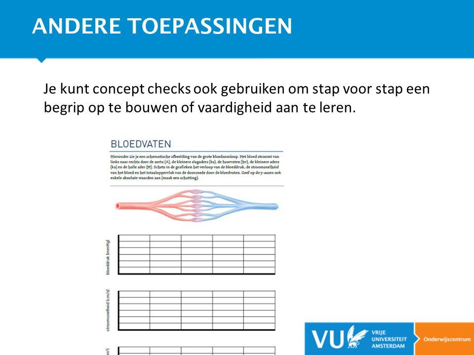 ANDERE TOEPASSINGEN Je kunt concept checks ook gebruiken om stap voor stap een begrip op te bouwen of vaardigheid aan te leren.