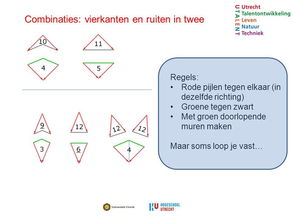 Combinaties: vierkanten en ruiten in twee
