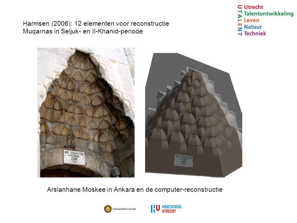 Harmsen (2006): 12 elementen voor reconstructie Muqarnas in Seljuk- en Il-Khanid-periode