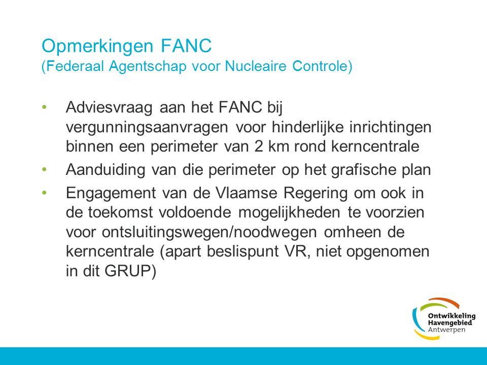 Opmerkingen FANC (Federaal Agentschap voor Nucleaire Controle)