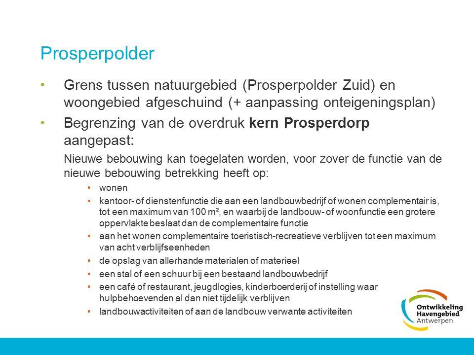 Prosperpolder Grens tussen natuurgebied (Prosperpolder Zuid) en woongebied afgeschuind (+ aanpassing onteigeningsplan)