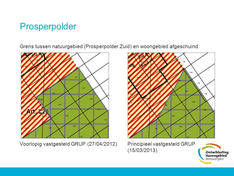 Prosperpolder Grens tussen natuurgebied (Prosperpolder Zuid) en woongebied afgeschuind.