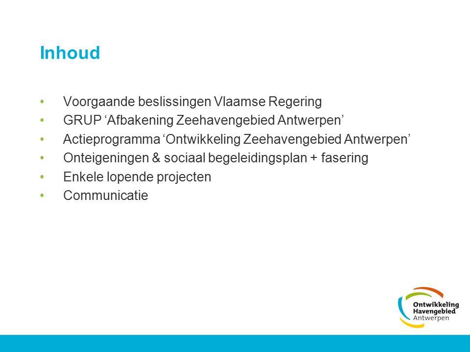 Inhoud Voorgaande beslissingen Vlaamse Regering