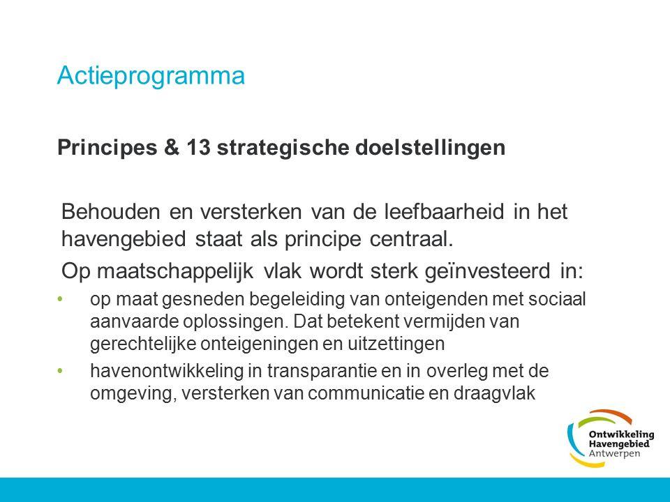 Actieprogramma Principes & 13 strategische doelstellingen