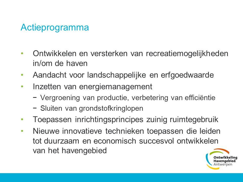 Actieprogramma Ontwikkelen en versterken van recreatiemogelijkheden in/om de haven. Aandacht voor landschappelijke en erfgoedwaarde.