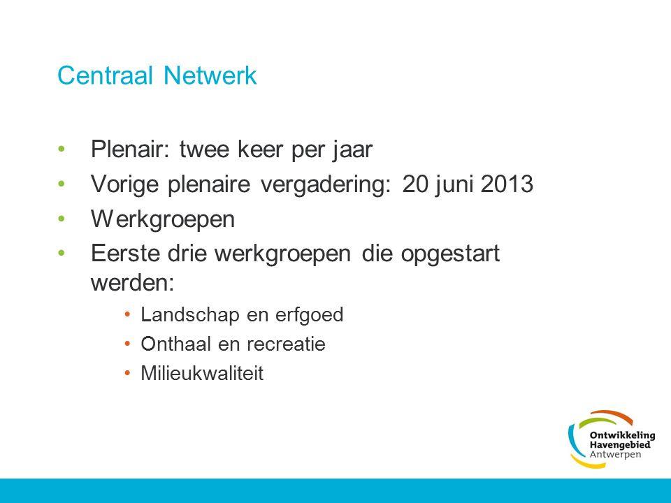 Centraal Netwerk Plenair: twee keer per jaar
