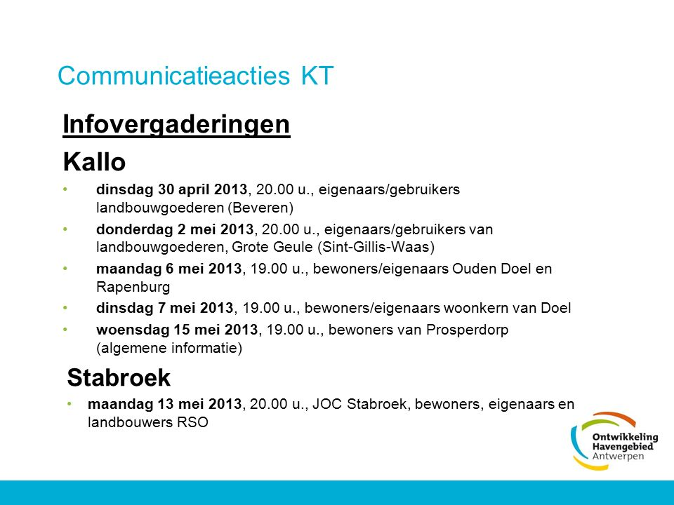 Communicatieacties KT