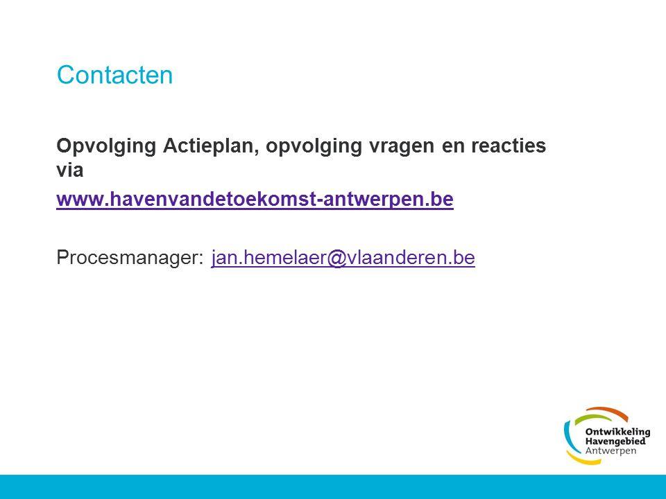 Contacten Opvolging Actieplan, opvolging vragen en reacties via