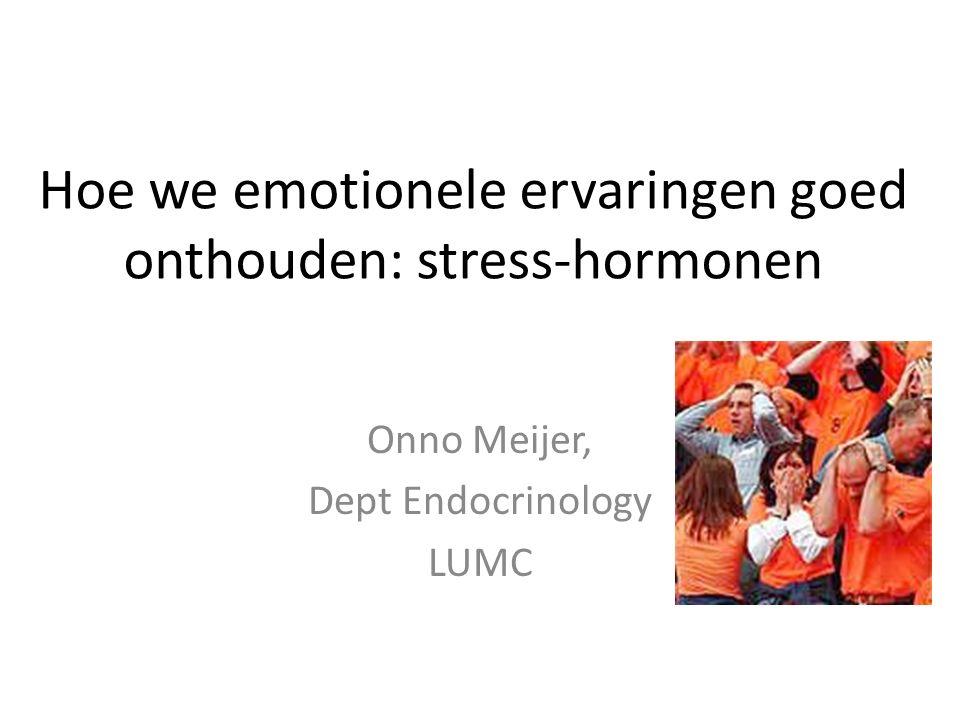 Hoe we emotionele ervaringen goed onthouden: stress-hormonen
