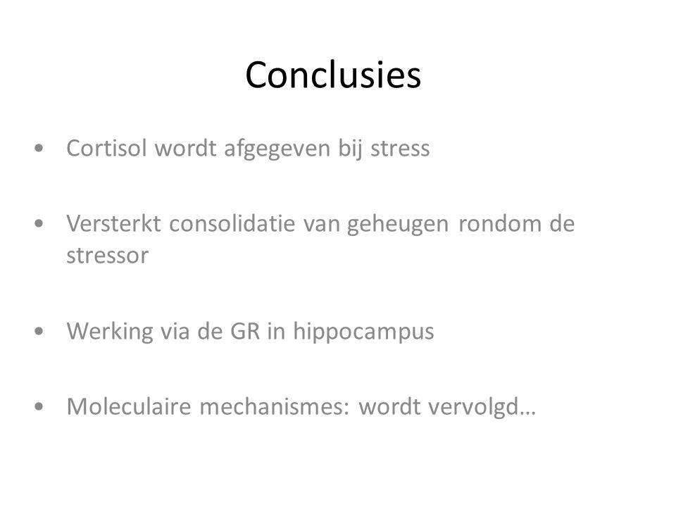 Conclusies Cortisol wordt afgegeven bij stress