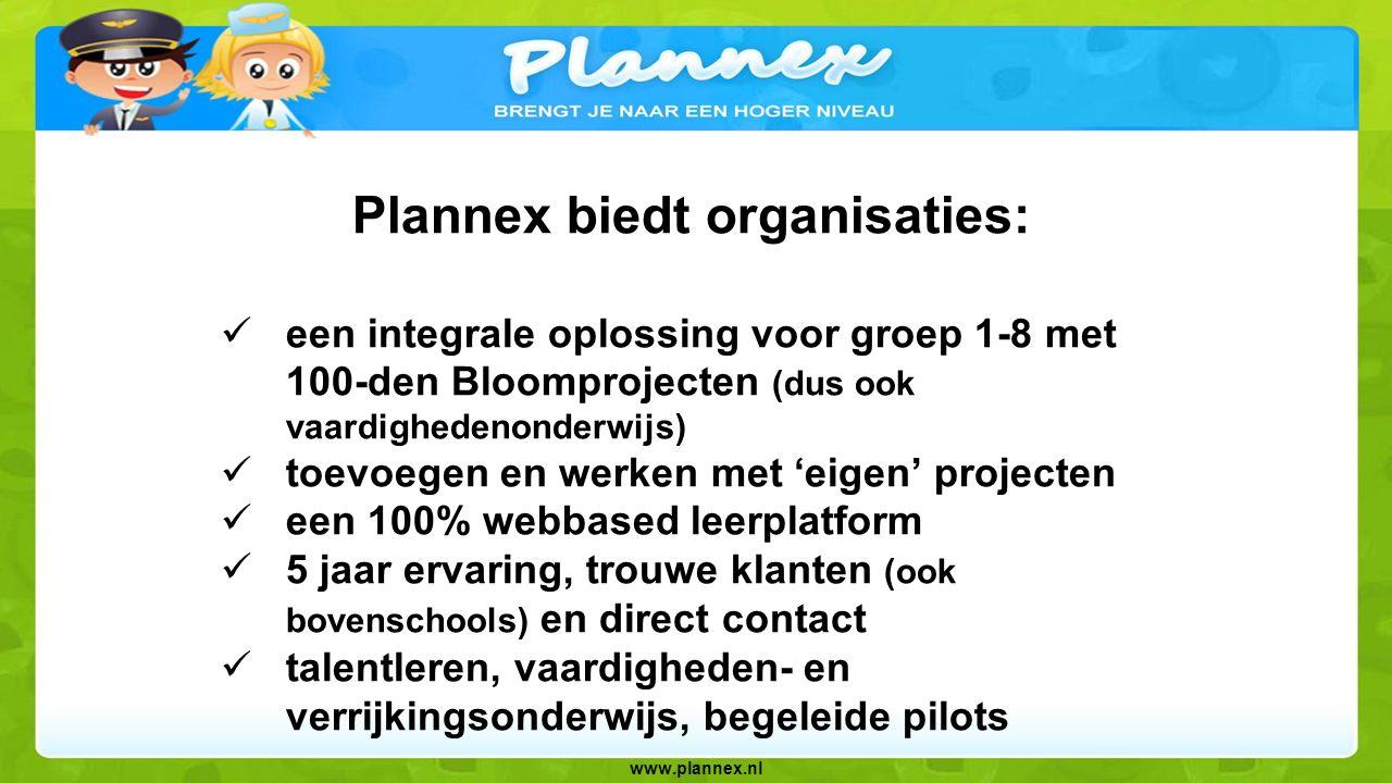 Plannex biedt organisaties: