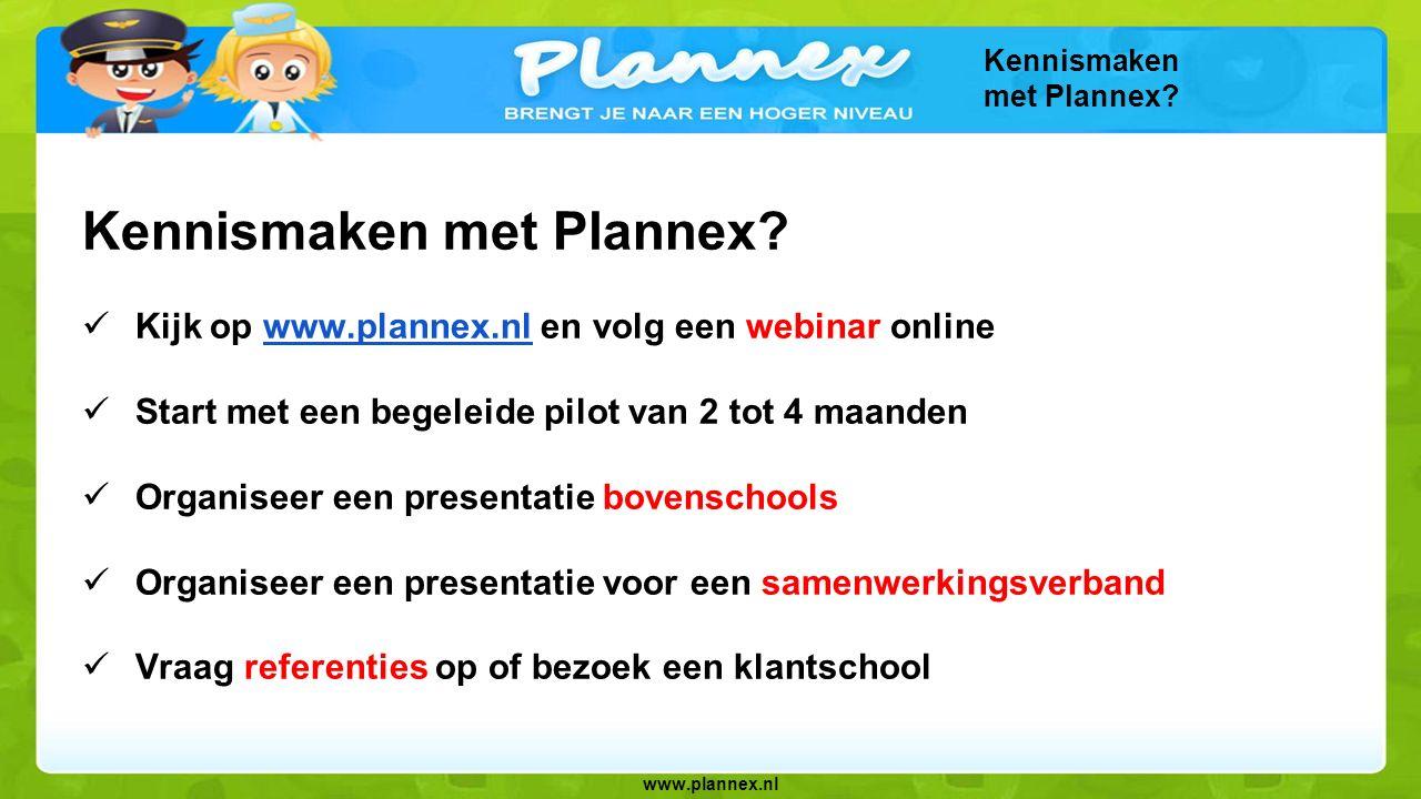 Kennismaken met Plannex
