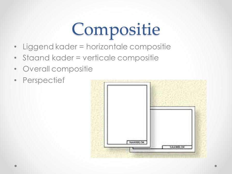 Compositie Liggend kader = horizontale compositie
